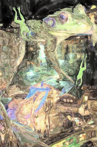 Klaus Ackerer, frog badgastein, Landschaft, Abstrakte Kunst