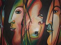 LUR-art--Therese-Lurvink-Abstraktes-Menschen-Gesichter-Moderne-Abstrakte-Kunst