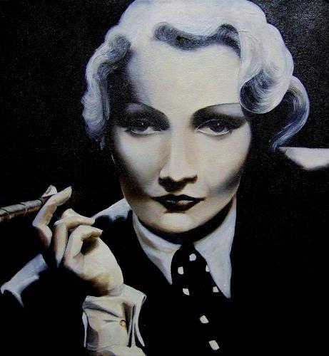 LUR-art/ Therese Lurvink, Marlene Dietrich, Menschen: Porträt, Menschen: Frau, Abstrakter Expressionismus