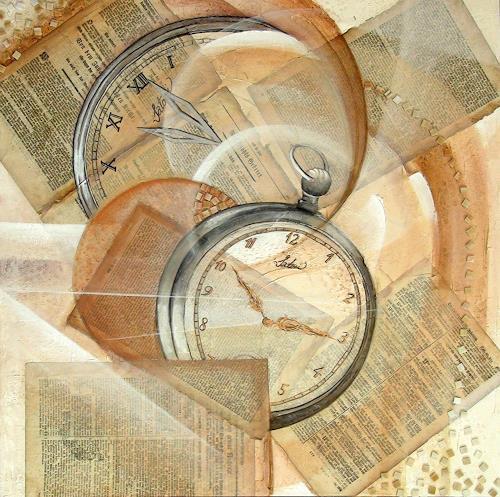 LUR-art/ Therese Lurvink, Lauf de r Zeit, Dekoratives, Fantasie, Expressionismus