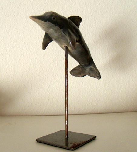 Wunderli Sabine, Krafttier Delfin, Dekoratives, Konkrete Kunst