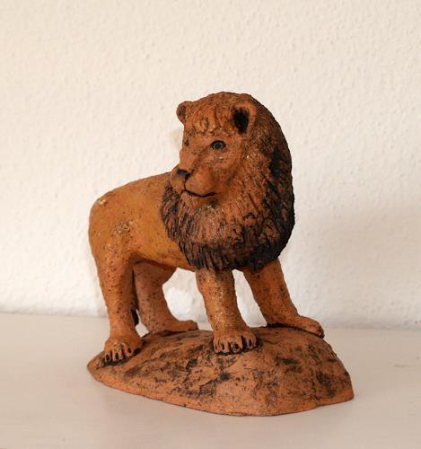 Wunderli Sabine, Löwe, Tierfigur, Sternzeichen, Krafttier, Dekoratives, Dekoratives, Naturalismus