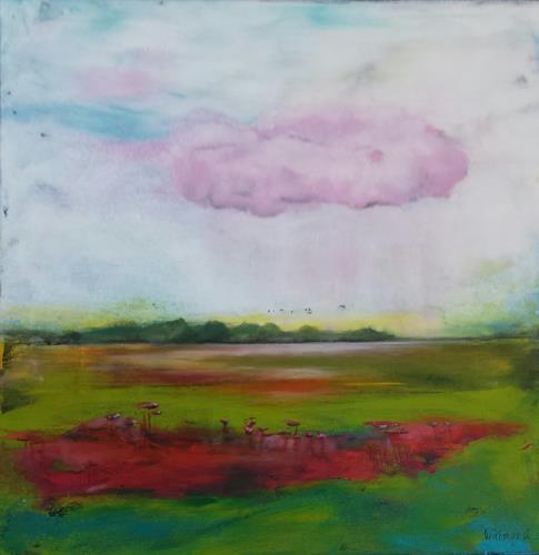 Petra Wittmund, auf rosa Wolke, Diverse Romantik, Zeiten: Zukunft, Naturalismus, Abstrakter Expressionismus
