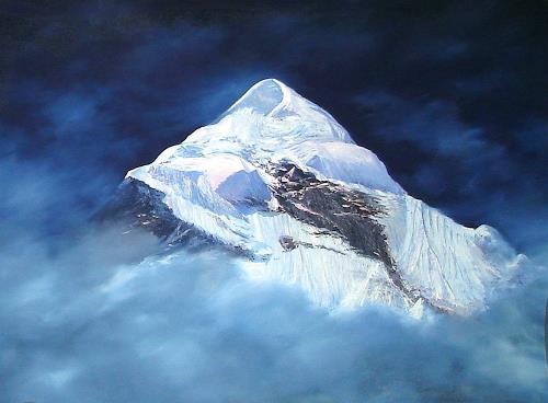 priyadarshi gautam, NEELKANTHA PEAK, Landschaft: Berge, Natur: Erde, Expressionismus