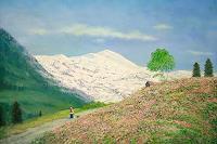 priyadarshi-gautam-Landschaft-Berge-Moderne-Impressionismus-Neo-Impressionismus