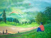 priyadarshi-gautam-Landschaft-Berge-Sport-Moderne-Impressionismus