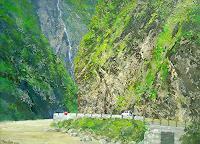 priyadarshi-gautam-Landschaft-Berge-Natur-Gestein-Moderne-Impressionismus