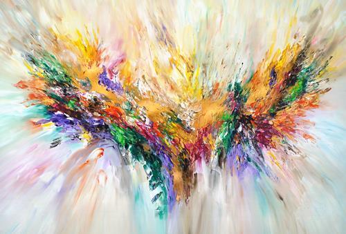 Peter Nottrott, Golden Wings XL 1, Abstraktes, Abstrakte Kunst, Expressionismus