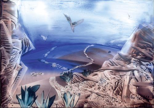 Ulrike Kröll, Wüstenlandschaft II, Abstraktes, Landschaft: Hügel, Moderne