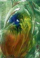 Ulrike-Kroell-Pflanzen-Blumen-Abstraktes-Moderne-Abstrakte-Kunst