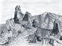 Ulrike-Kroell-Landschaft-Berge-Natur-Gestein-Gegenwartskunst-Gegenwartskunst