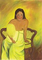 Ulrike-Kroell-Menschen-Frau-Wohnen-Zimmer-Gegenwartskunst-Gegenwartskunst