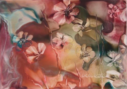 Ulrike Kröll, Blütenzauber, Pflanzen: Blumen, Diverse Romantik, Gegenwartskunst