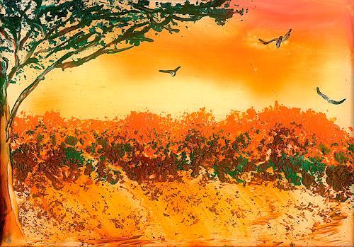 Ulrike Kröll, Afrika, Landschaft: Ebene, Landschaft: Ebene, Gegenwartskunst