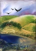 Ulrike-Kroell-Landschaft-Berge-Landschaft-See-Meer-Gegenwartskunst-Gegenwartskunst