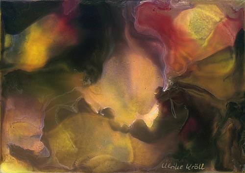 Ulrike Kröll, Ein Vulkan beruhigt sich, Abstraktes, Natur: Erde, Abstrakte Kunst