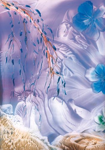Ulrike Kröll, Blaue Blüten, Pflanzen: Blumen, Diverse Romantik, Gegenwartskunst