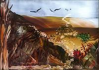 Ulrike-Kroell-Landschaft-Berge-Landschaft-Herbst-Gegenwartskunst-Land-Art