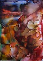 Ulrike-Kroell-Romantik-Sonnenuntergang-Abstraktes-Moderne-Abstrakte-Kunst