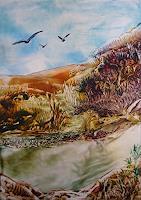 Ulrike-Kroell-Landschaft-Huegel-Landschaft-Sommer-Moderne-Naturalismus