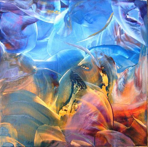 Ulrike Kröll, Unruhe unter Wasser, Abstraktes, Bewegung, Abstrakte Kunst, Expressionismus