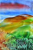 Ulrike-Kroell-Landschaft-Berge-Fantasie-Gegenwartskunst-Gegenwartskunst