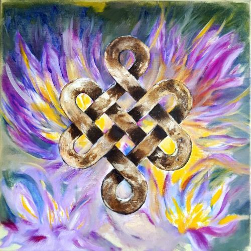 Ulrike Kröll, Shrivatsa - Unendlicher Knoten, Symbol, Diverse Wohnen, Gegenwartskunst