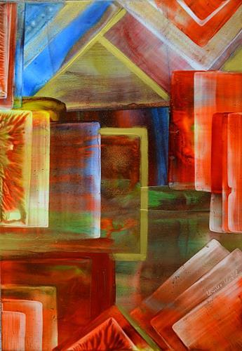 Ulrike Kröll, Farben und Formen, Dekoratives, Bewegung, Moderne