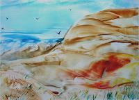 Ulrike-Kroell-Landschaft-Strand-Landschaft-See-Meer-Moderne-Naturalismus
