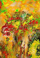 Ulrike-Kroell-Pflanzen-Blumen-Dekoratives-Gegenwartskunst-Gegenwartskunst
