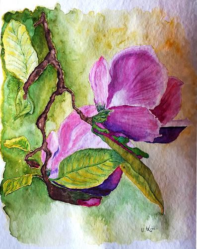 Ulrike Kröll, Magnolienblüten, Pflanzen: Blumen, Zeiten: Frühling, Naturalismus