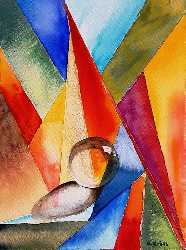 Ulrike Kröll, Farbige Formen - Aquarell, Dekoratives, Diverses, Moderne