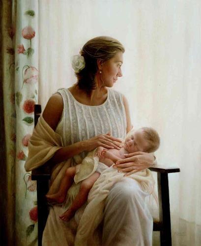Maria Jose Aguilar, Motherhood (Maternidad, Diverse Weltraum, Realismus, Expressionismus