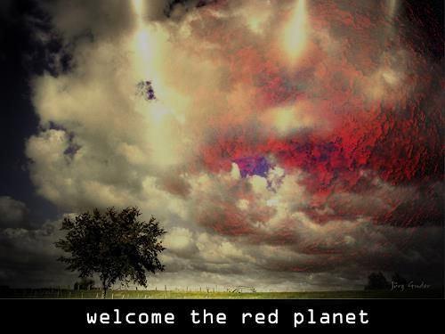 MENSCHEN-WERK, welcome the red planet, Fantasie, Gegenwartskunst, Abstrakter Expressionismus