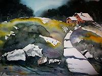 Brigitte-Heck-Natur-Gestein-Landschaft-Ebene-Moderne-Abstrakte-Kunst
