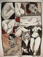 Brigitte-Heck-Diverse-Erotik-Menschen-Gruppe-Gegenwartskunst--Gegenwartskunst-