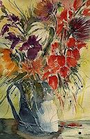 Brigitte-Heck-Pflanzen-Blumen-Stilleben-Gegenwartskunst-Gegenwartskunst
