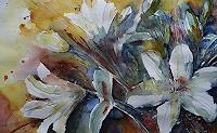 Brigitte-Heck-Pflanzen-Blumen-Stilleben-Gegenwartskunst--Gegenwartskunst-