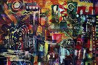 Brigitte-Heck-Abstraktes-Karneval-Gegenwartskunst--Gegenwartskunst-