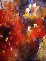 Brigitte-Heck-Pflanzen-Blumen-Abstraktes-Moderne-expressiver-Realismus