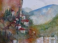 Brigitte-Heck-Architektur-Landschaft-Berge-Gegenwartskunst-Gegenwartskunst