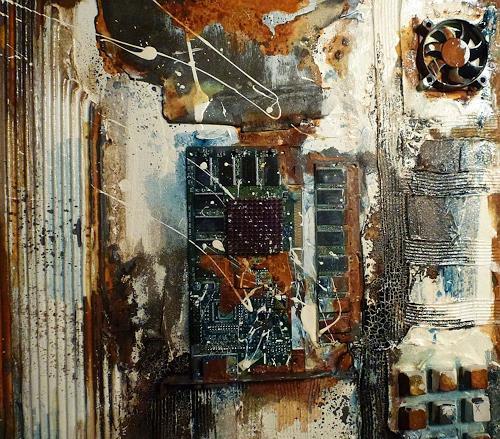Brigitte Heck, Erinnerung an die Zukunft, Technik, Stilleben, Gegenwartskunst, Abstrakter Expressionismus
