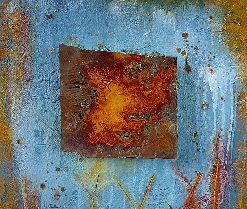 Brigitte Heck, Nr. 24 - The Wall, Abstraktes, Stilleben, Gegenwartskunst