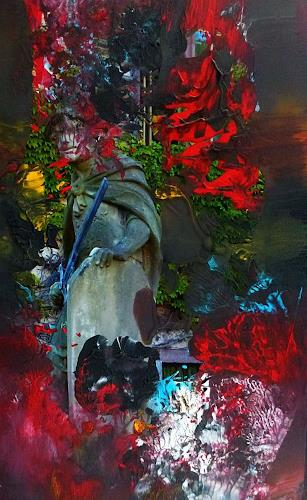 Brigitte Heck, Unterwelten Nr. 9, Fantasie, Märchen, Gegenwartskunst, Abstrakter Expressionismus