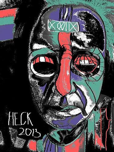Brigitte Heck, Mystik, Menschen: Gesichter, Mythologie, expressiver Realismus