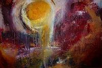 Brigitte-Heck-Abstraktes-Symbol-Moderne-Abstrakte-Kunst-Informel