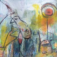 Brigitte-Heck-Stilleben-Fantasie-Moderne-Abstrakte-Kunst-Informel
