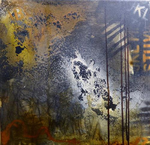 Brigitte Heck, Netzwerk III, Symbol, Poesie, Gegenwartskunst, Abstrakter Expressionismus