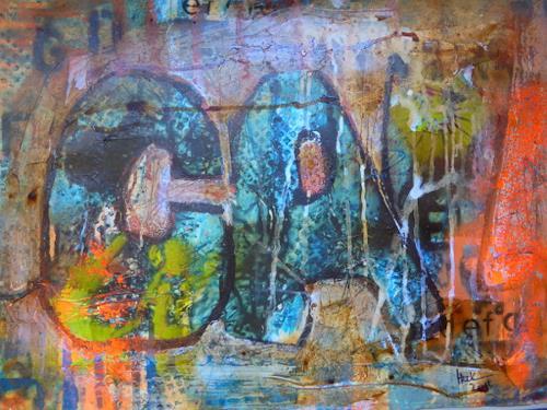 Brigitte Heck, Graffiti, Symbol, Stilleben, Gegenwartskunst