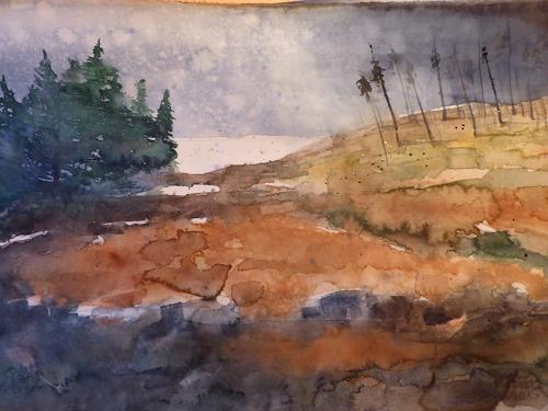 Brigitte Heck, Stimmung im Moor, Landschaft: Herbst, Gegenwartskunst